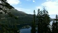 Lake Tahoe 31 Emerald Bay Fannette Island Stock Footage
