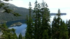 Lake Tahoe 33 Emerald Bay Fannette Island Stock Footage