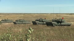 Military, Leopard 2A4 tanks 3 shots, wide Stock Footage