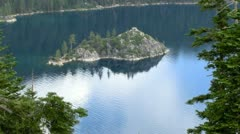 Lake Tahoe 35 Emerald Bay Fannette Island Stock Footage