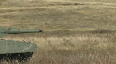 Military, Leopard 2A4 tank one shot one over Stock Footage