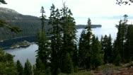 Lake Tahoe 36 Emerald Bay Fannette Island Stock Footage