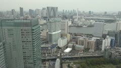Timelapse Fast motion of Aerial view of Tokyo by day, Japan Stock Footage