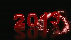 Happy New Year 2013 Stock Footage