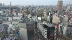 Fast motion of Aerial view of Tokyo by day, Japan - stock footage