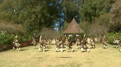 Zulu dancing Stock Footage