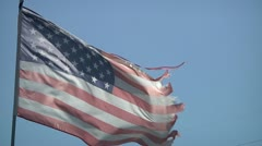US flag, U.S. Flag. Unserviceable flag. Stock Footage