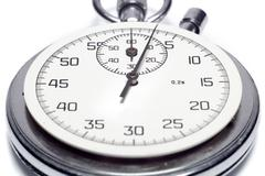 the image of a stop watch counting the seconds, isolated, on a white backgrou - stock photo