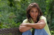 Beautiful black woman outdoors (2) Stock Photos
