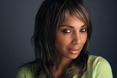 Beautiful mature black woman headshot (7) Stock Photos