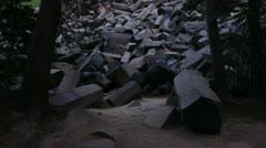 Devils Postpile 04 Sunset Stock Footage