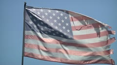 US flag on wind. - stock footage
