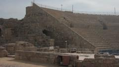 The Roman Theater at Caesarea Maritima Stock Footage