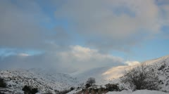 Winter on Hermon Mountain Under Clouds Stock Footage