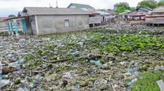 Garbage dump in Balai island Stock Photos