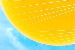Close up of yellow hot air balloon Stock Photos