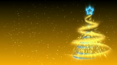Christmas Tree Background - Merry Christmas 16 (HD) Stock Footage