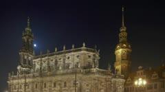 Timelapse St. Trinitatis Dresden Stock Footage