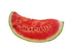 Delicious slice of watermelon Stock Photos