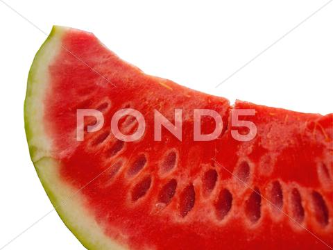 Stock photo of Slice of watermelon close up