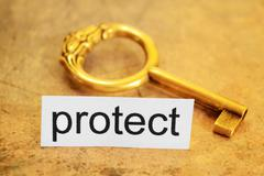 Protect and key concept Stock Photos