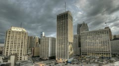 Detroit Downtown Sunset - stock footage