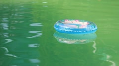 Air lifebelt on water Stock Footage