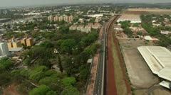 Aerial View of Cascavel City Stock Footage