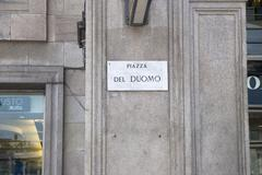 Stock Photo of piazza del duomo wall plate
