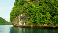 Stock Video Footage of Stunning Rock Island, Palau