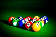 Billiard spheres Stock Photos