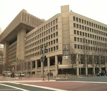 DC - FBI building corner 100th anniversary Stock Footage