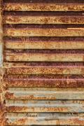 rusty metal texture with stripes - stock photo