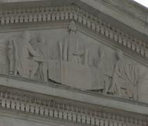 DC - Jefferson Memorial frieze 02 Stock Footage