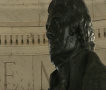 DC - Thomas Jefferson Memorial statue, closeup Stock Footage