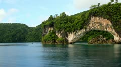 Famous Rock Island Arch- Palau Stock Footage