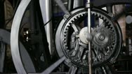 Stock Video Footage of Old steam engine gear system which uses planetary gears.