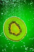 Stock Photo of kiwi in water