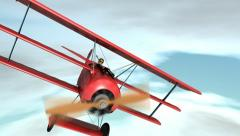 Fokker Dr.1 Triplane as flown by the Red Baron. Stock Footage