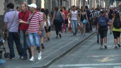 Pedestrians in Soutern Italy. Stock Footage