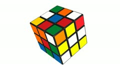 A cube puzzle being solved. Stock Footage