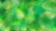 Yellow, green cloud-like forms changing shape and moving. - stock footage