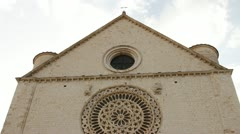 Basilica of San Francesco (Saint Francis) in Assisi Stock Footage