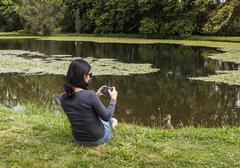 bird watching - stock photo
