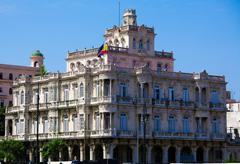 hispanic embassy, havana, cuba - stock photo