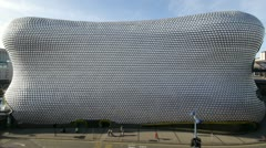 Wide-angle shot of Selfridges in Birmingham, UK. - stock footage