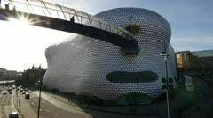 Wide-angle shot of Selfridges in Birmingham, UK. Stock Footage