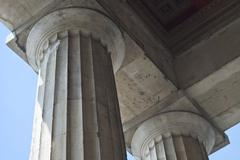 two classical greek columns - stock photo