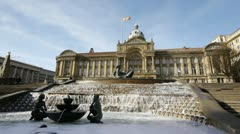 Victoria Square in Birmingham, England. Stock Footage