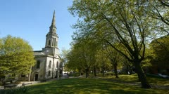 Saint Paul's church in Birmingham, England. Stock Footage